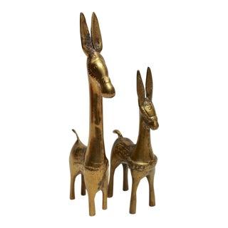Brass Donkeys, Pair