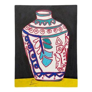 """White Leaf Vase"" Artwork For Sale"
