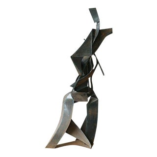 70's 8 Foot Brutalist Abstract Expressionist Welded Steel/Iron Sculpture For Sale