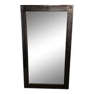 Large Hand Carved Floor Mirror For Sale