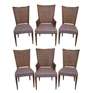 Widdicomb Mid Century Cane Back Dining Chairs - 6 For Sale