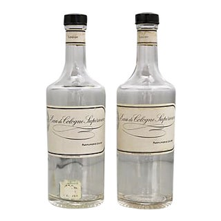 1920s French Louisy Cologne Bottles - Pair For Sale