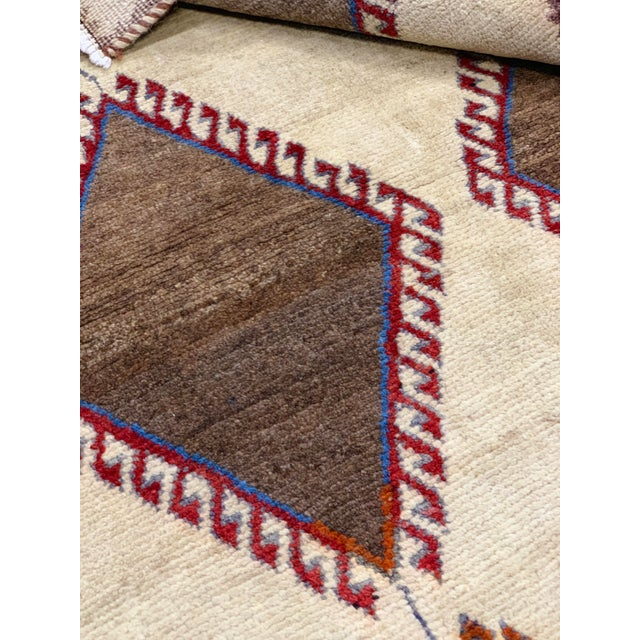 1960s Vintage Persian Gabbeh Rug - 4′2″ × 6′4″ For Sale - Image 10 of 13