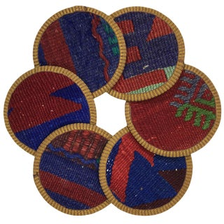 Kilim Coasters Set of 6 | Parçacılar For Sale
