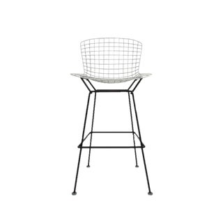 Pair of Vintage Harry Bertoia Bar Stools Black and White