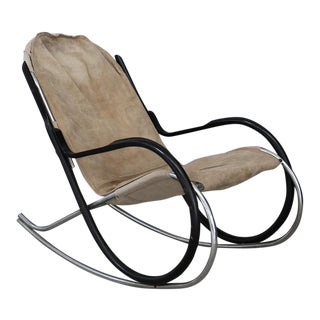 Nonna Rocking Chair Designed by Paul Tuttle for Strassle International For Sale