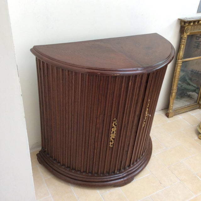 Rustic Primitive Demilune Cabinet For Sale - Image 4 of 10