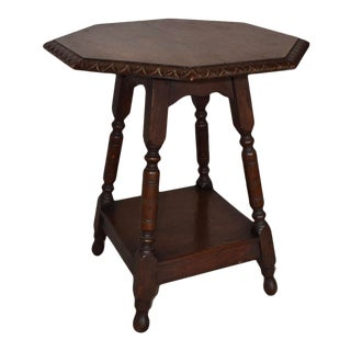 English Carved Side Table For Sale
