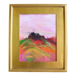 Original Colorful California Landscape Oil Painting by Juan Guzman For Sale