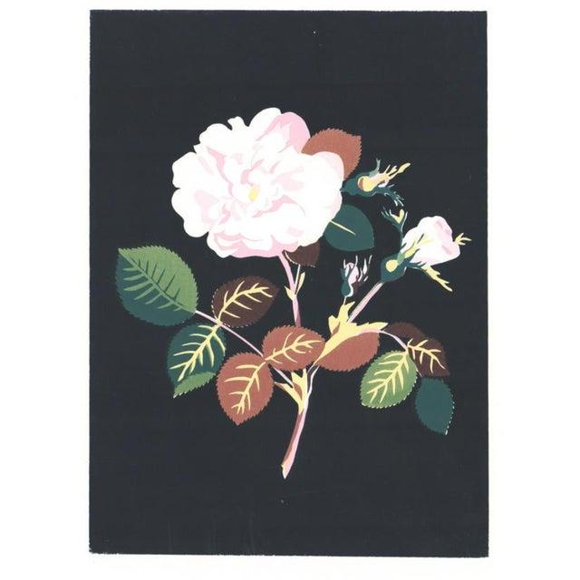 1980s Floral Still Life Botanical Serigraph For Sale - Image 4 of 4