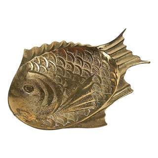 Brass Fish Catchall Dish For Sale