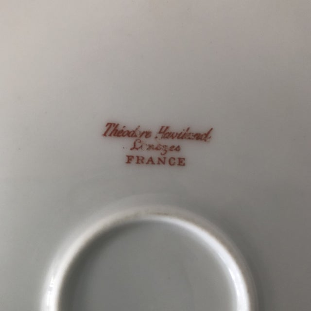 1940s French Haviland China Holiday Platters - A Pair For Sale - Image 10 of 11