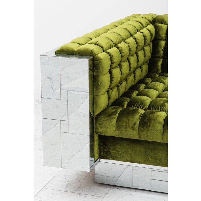 Modern Paul Evans, Cityscape Settee (PE-248), USA, c.1970 For Sale - Image 3 of 7