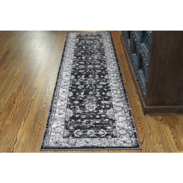 "Vintage Style Distressed Gray Runner- 2'8"" x 10' - Image 5 of 6"