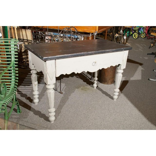 French Painted Wood Butcher Table - Image 7 of 7