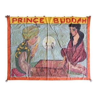 """1950s """"Prince Buddah"""" Circus Sideshow Banner For Sale"""