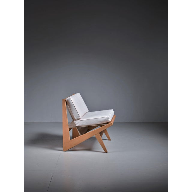 Contemporary Rope Sling Lounge Chair in the Manner of Albert Frey, USA, 1950s For Sale - Image 3 of 8