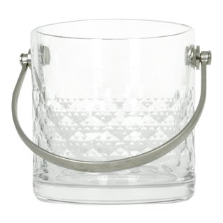 Baccarat Crystal Ice Bucket With Plated Handle