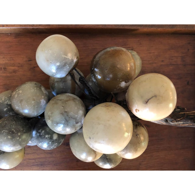 Stone Vintage Alabaster Large Grape Cluster Made in Italy For Sale - Image 7 of 10