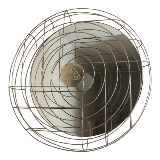 Industrial Fan Cage Mirror For Sale