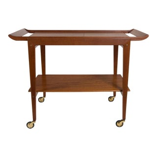 Tove and Edvard Kindt-Larsen Modern Danish Serving Tea Cart For Sale