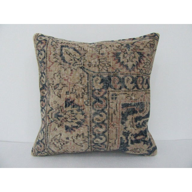 Vintage Turkish Navy Pillow Cover For Sale - Image 4 of 4