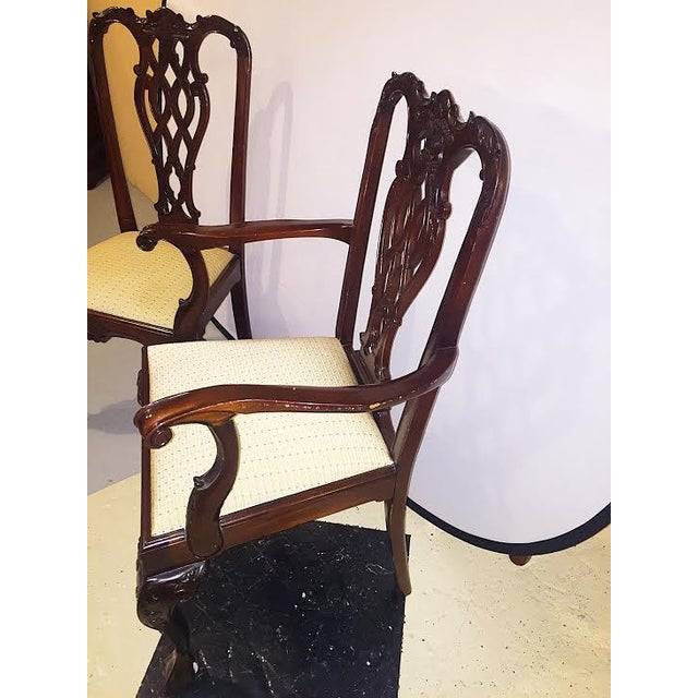 Georgian Style Dining Chairs - Set of 8 - Image 6 of 9