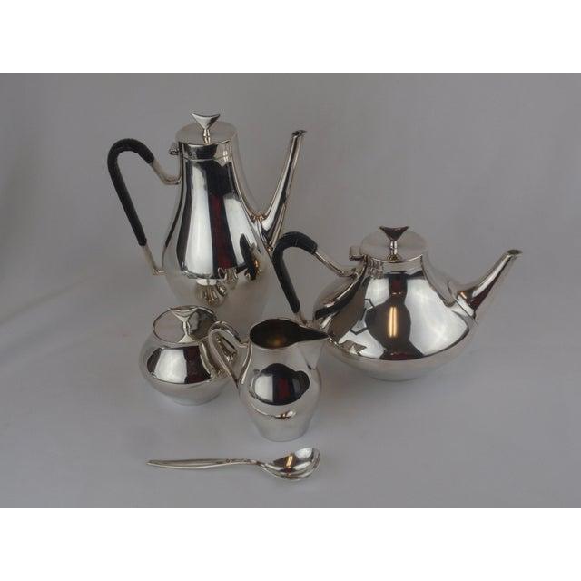 John Prip for Reed & Barton Denmark Modernist Coffee Tea Set - Image 6 of 10