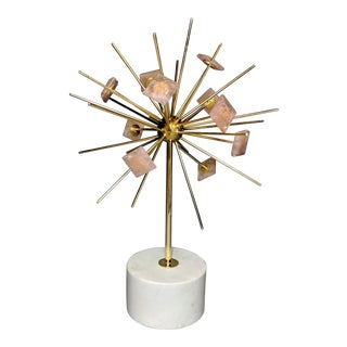 Gold and Pink Decorative Sculpture For Sale