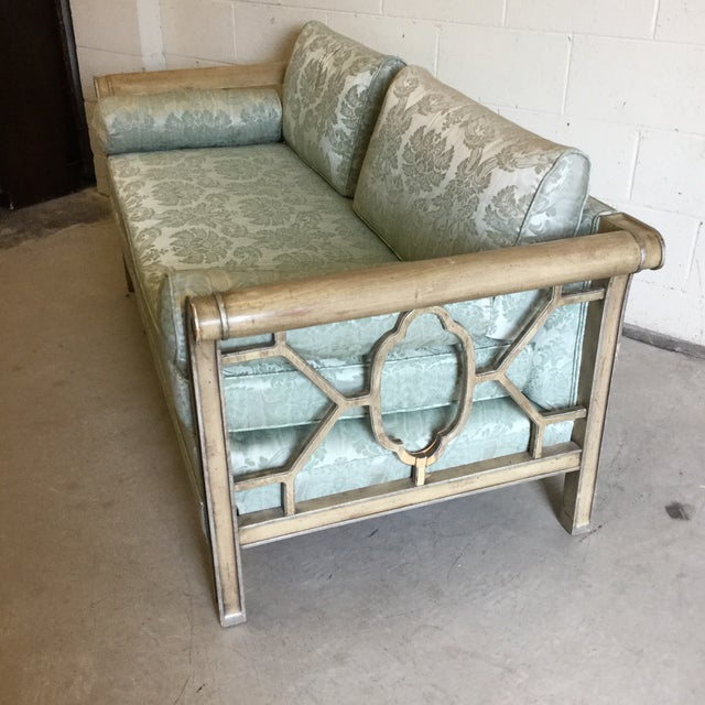 Palm Beach Regency Style Fretwork Love Seat For Sale - Image 11 of 11