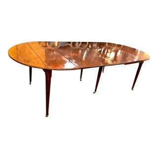 19th Century Louis XVI Mahogany Dining Table For Sale