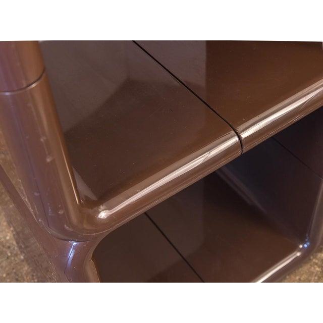 Brown Kay Leroy Ruggles Brown Umbo Modular Shelf Unit for Directional For Sale - Image 8 of 10