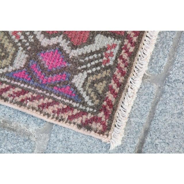 Antique Turkish Carpet - 1′6″ × 3′1″ - Image 9 of 11