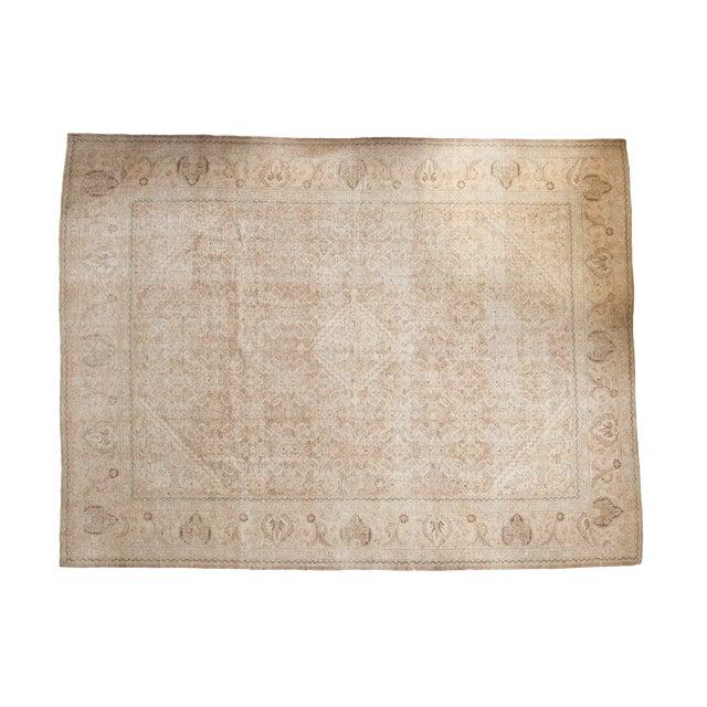"Vintage Distressed Mahal Carpet - 10'3"" x 13'8"" For Sale"
