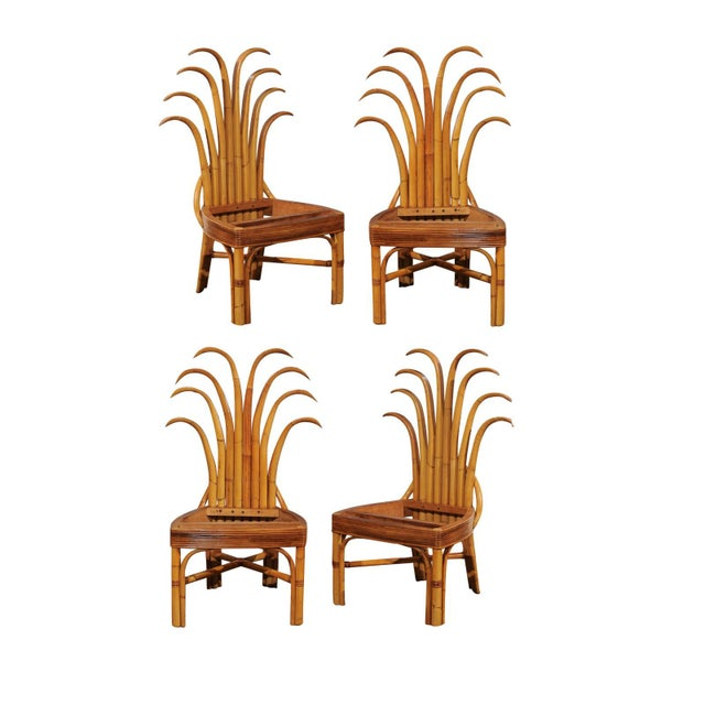 Jaw-Dropping Unique Pair of Custom-Made Palm Frond Chairs, circa 1950 For Sale - Image 13 of 13