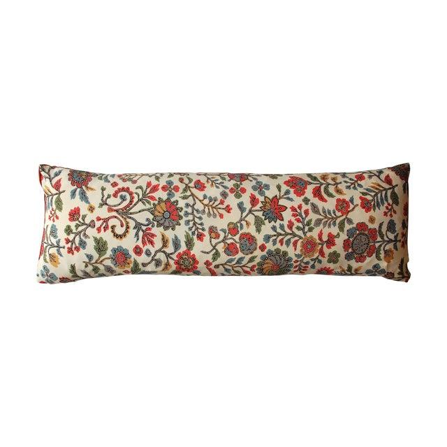Japanese Vintage Silk Print Textile Pillow - Image 1 of 4