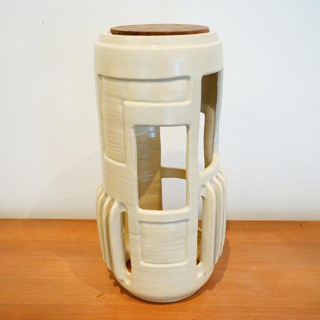 White Nesting Light Capsule by Jenny Poston For Sale - Image 8 of 10