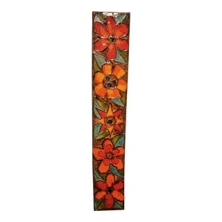 1960s Tall Ruscha Wall Plaque 773/2 With Floral Decor For Sale