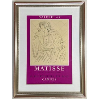 Matisse, Dessins, Gravures Rares, Galerie 65, Cannes, Stone Lithographic Poster by Henri Matisse, From the Timothy Yarger Gallery in Beverly Hills For Sale