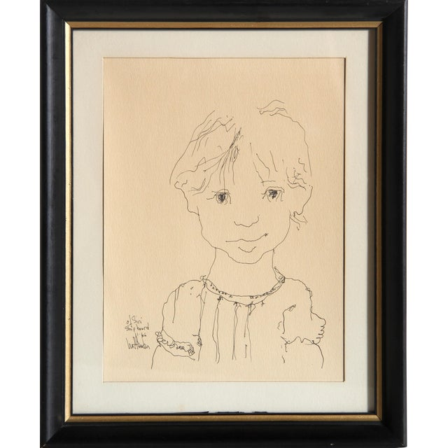 Gino Hollander, of Siri Shipboard, Ink on Paper, Signed and Dated l.l. For Sale
