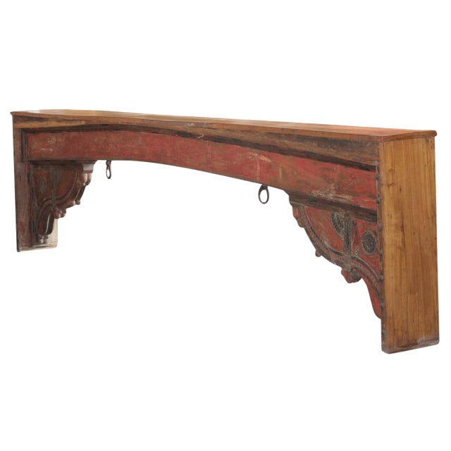 Red Beam Console Table For Sale