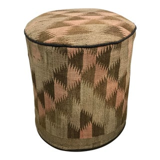 Handcrafted Kilim Stool For Sale