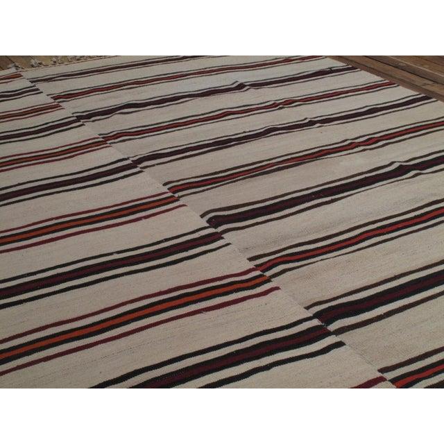 Islamic Large Banded Kilim For Sale - Image 3 of 5