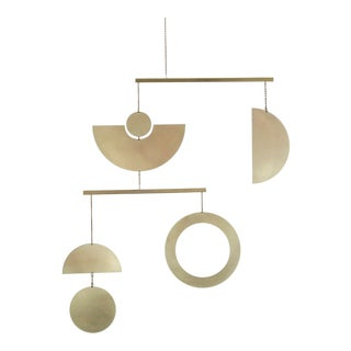 Contemporary Brass Kinetic Mobile Decor