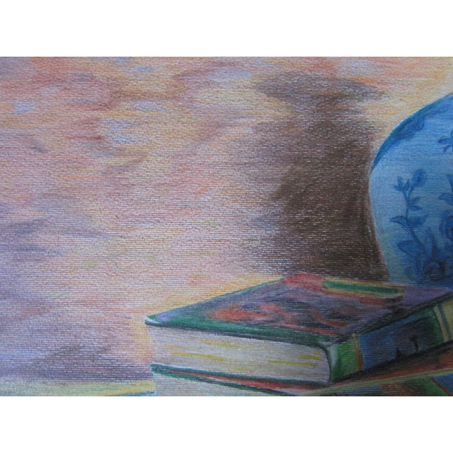 Eastern Culture Realism Colored Pencil Painting For Sale - Image 9 of 11