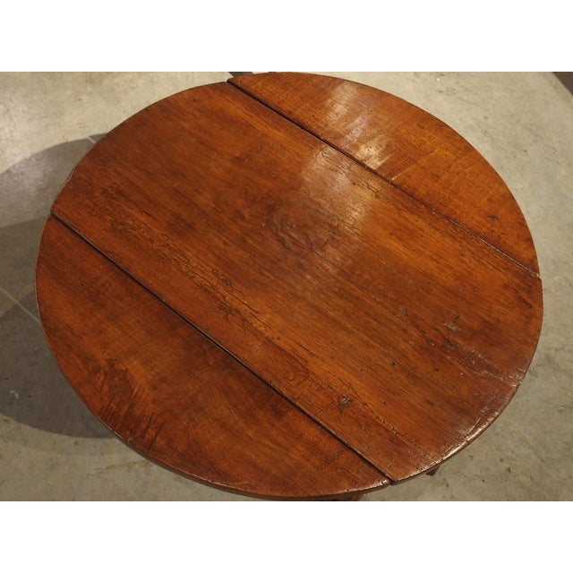 Pair of Antique Walnut Drop Leaf Side Tables From Italy, Circa 1900 For Sale - Image 9 of 12