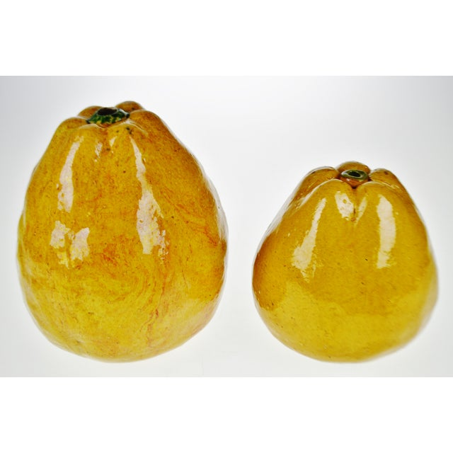 Vintage Art Pottery Ceramic Asian Pears - A Pair These remarkable pieces were acquired from an estate auction presenting...
