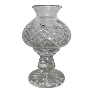 Waterford Crystal Hurricane Style Candle Holder - 2 Piece For Sale