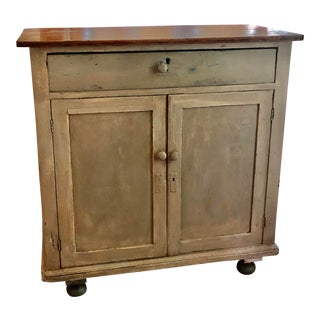 Painted Sideboard With Top Drawer and Shelves For Sale
