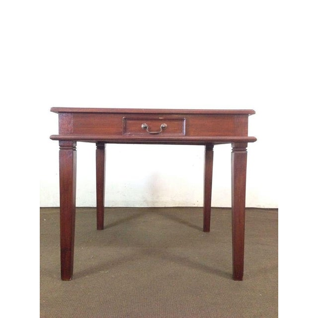Vintage Carved Mahogany Games Table Suite - Image 3 of 6